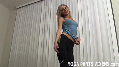 Yeah I know how good I look in my yoga pants JOI
