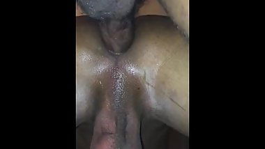 Tiny gets filled with cum (First Nut)