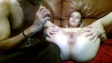 blowing smoke out my pussy
