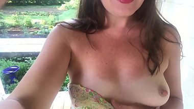 Beautiful Girl Flashing Boobs Outdoors