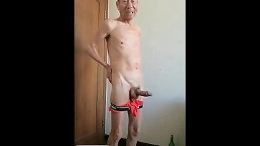Asian oldman super cock