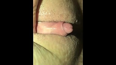 Very wet FTM clit jerk with mini fleshlight