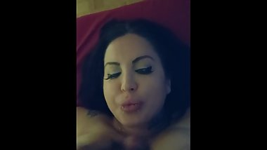 Sexy escort BJ and cumshot