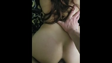 Tight mami gets cum on ass