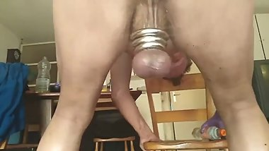 SHAVED ASS DIRTYGARDENBOY SHAVED ANAL RIDING SISSY HUGE DILDOS