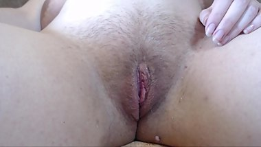 Shaving pussy close up