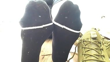 smelly black socks amateur