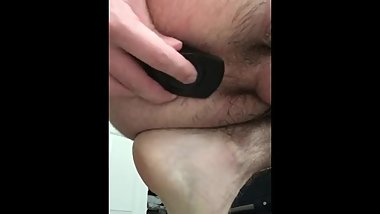 Teen boy fucks his tight wet creamy ass and stretches his hole