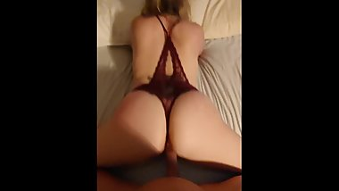 Doggy with sexy blonde milf