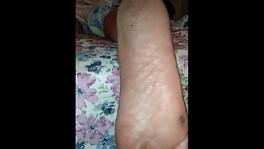 Wife dirty soles sleeping