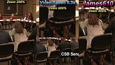Young Girl Shoeplay High Heels in Meeting (Part 3)