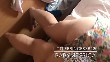 LittlePrincessB420 babymessica HITACHI WAND ANAL PUSSY TORTURE AND ORGASM