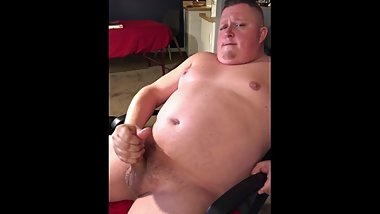 Big Dicked Chubby Blows a Big Load