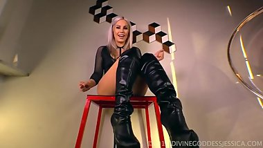 Girl in leather boots joi
