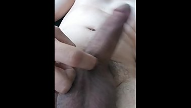 Jacking off my thick brown cock