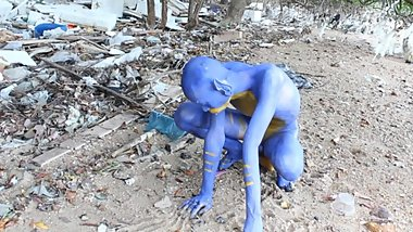 Body Painting, Bodypaint - Blue Digitmon