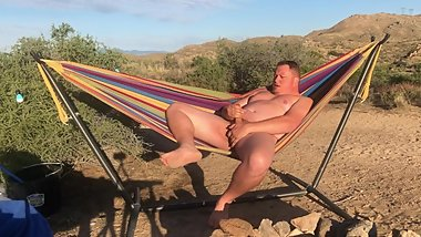 Cumming in my Hammock while Camping