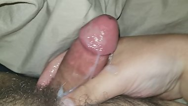 Cumming from jacking off