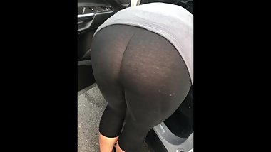 Gf see through leggings no panties