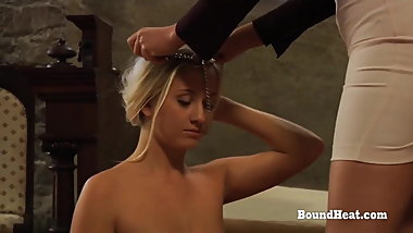 Disappeared On Arrival:Two Busty Young Lesbian Slave Trained