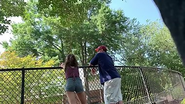 Candid ass teen *saw me filming*
