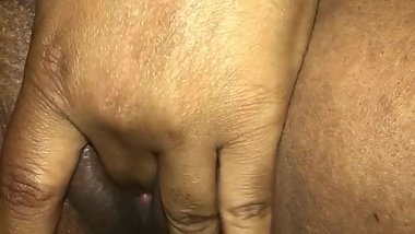 Playing with freshly shaved pussy!!!