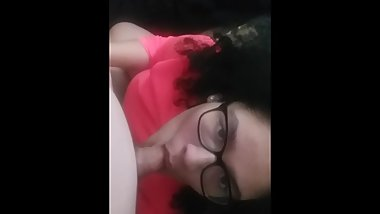 Curly Headed Cutie With Glasses & Blowjob POV