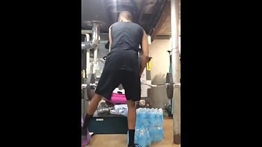 Young boy doing squats. Look at that ass