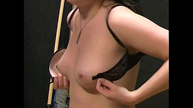 Candid backstage beauties 1- brunette changing bra