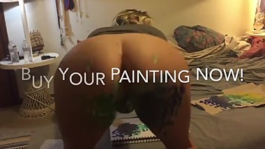 Ass art Pussy painting booty pic