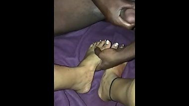 BBC couldnt help but nut on sexy toes