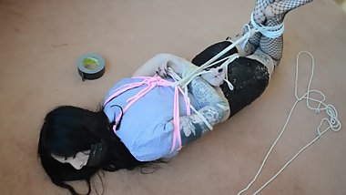 Indigo's Burglar Home Invasion Torment Sample 7 - Brutally Hogtied