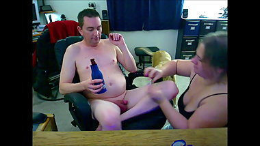 Playing with Hubbys Baby Dick and Chastity