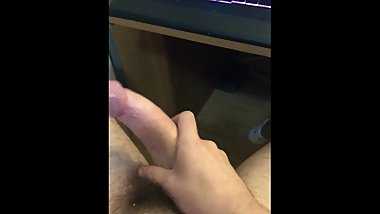 Young Stud Blows load on Desk