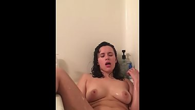 Cumming all soapy in the tub
