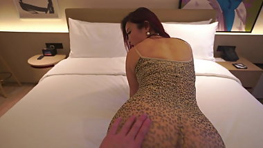 Chinese Girl in Hotel Room