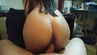 Petite Smooth Booty Riding POV