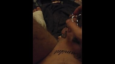 Virgin boy Quick ruined cum after chastity