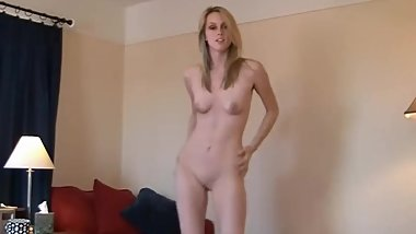 Tall Hot Blonde Stripping