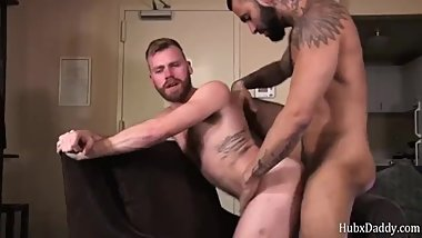 Hairy bear and tattooed bear anal