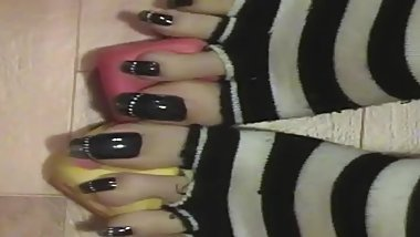 tosexytoes - Silver french on black toenails II.