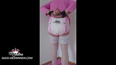Punishment of Lady Julinas diaper girl adult baby ABDL DWT