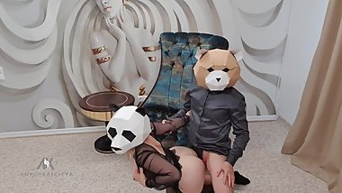 Anyah Kataleya sexy Panda Cosplay Fucked by Crazy Fucking TED Bear