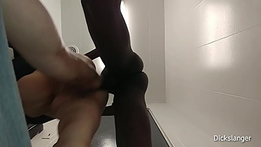 Mature White BBW Ass Pounded In Public Store Bathroom By BBC