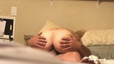 Wifes sis loves me fucking her creamy pussy cowgirl! Squirting all over my