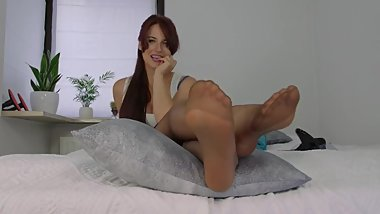 Polish mistress legs worship joi