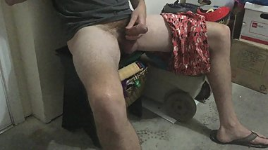jacking off in the garage