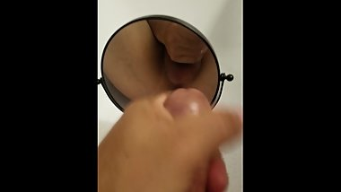 Masterbating with my mirror after watching porn