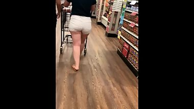 LOVELY white fat ass