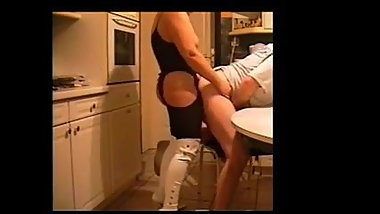 Wife fucks hubby with strap on